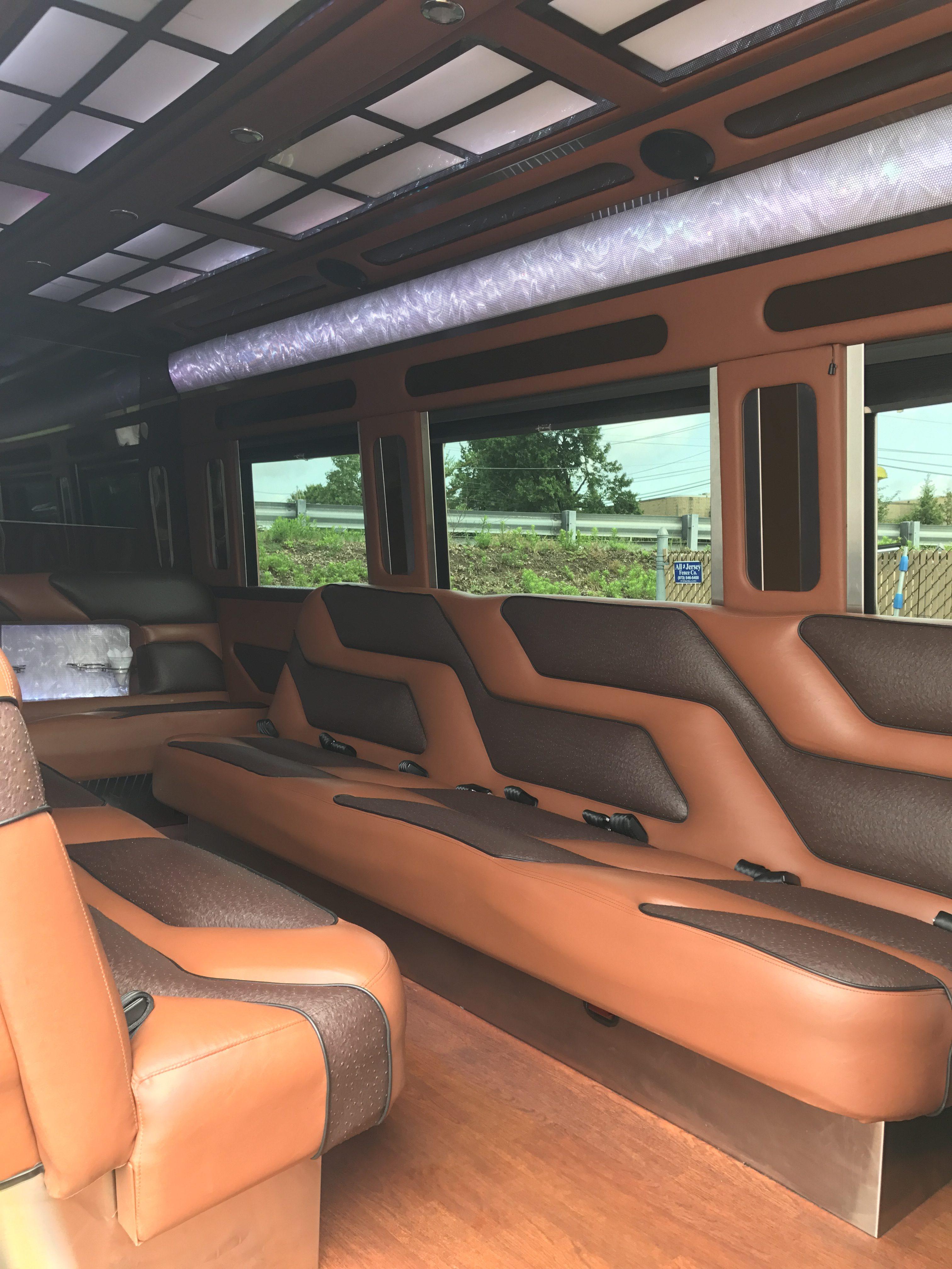 Mercedes benz sprinter 15 passenger party bus 1 nj limo for Mercedes benz party bus